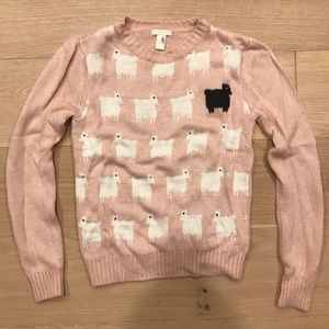 Forever 21 Pink Sheep Sweater